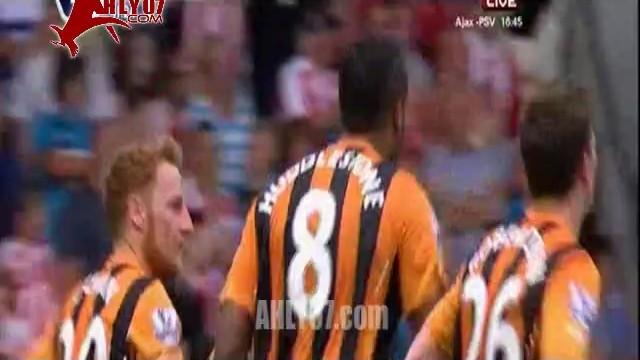 هدف هال سيتي الاول في ستوك سيتي الدوري الانجليزي 24 اغسطس 2014