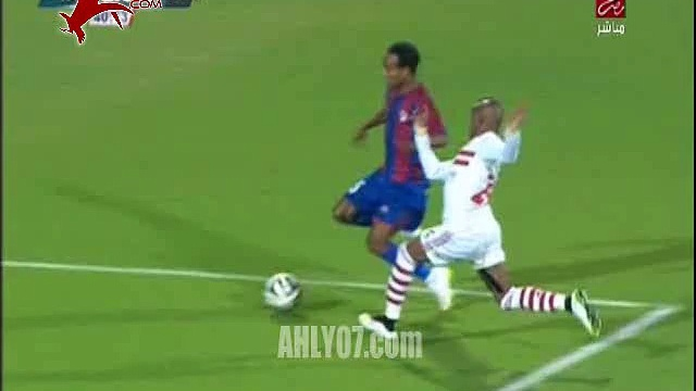 جمال الغندور لبتروجيت ضربة جزاء امام الزمالك 3 يناير 2015