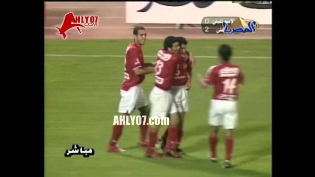 موسم 2004-2005 الأسبوع 25 الأهلي 6 الاسماعيلي 0 بركات ومتعب وتريكة واسامة حسني