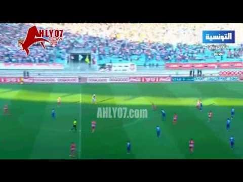 ايابا بتونس الشوط الأول الأهلي والافريقي 1-2 كونفيدرالية 2015 دور ال16