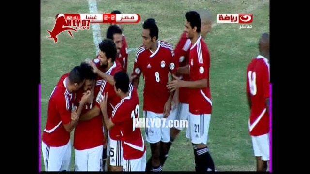 أبو تريكة يصنع هدف بالكعب لمحمد صلاح منتخب مصر امام غينيا 10 سبتمبر 2013