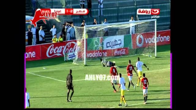 أهداف مصر 4 غينيا 2 لغالي وتريكة وصلاح وزكي تصفيات كأس العالم 10 سبتمبر 2013