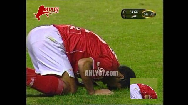 هدف الأهلي الثالث في المقاولون العرب مقابل 0 تريكة الدوري 27 نوفمبر 2005