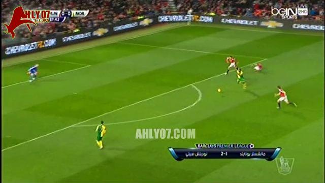 أهداف مباراة نورويتش سيتي 2 مقابل 1 مانشستر يونايتد المرحلة السابعة عشر من البريميرليج 19 ديسمبر 2015