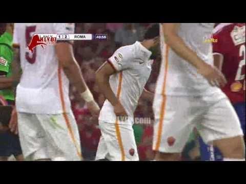 هدف روما الثاني في الاهلي مقابل 1 محمد صلاح 20 مايو 2016
