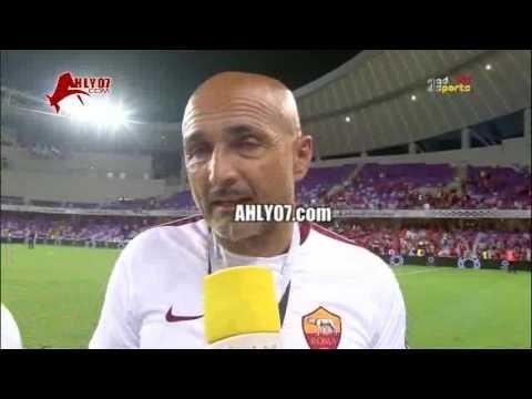 سباليتي مدرب روما: الأهلي فريق صعب وأفضل من روما