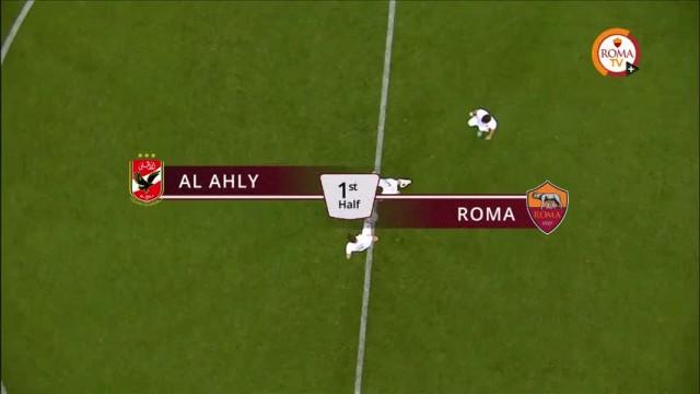 شاهد لأول مرة أهداف وملخص الأهلي وايه اس روما بالتعليق الايطالي كاملا