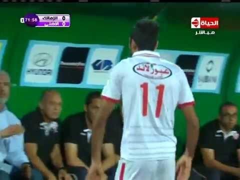 شاهد تشويحة محمود كهربا لاعب الزمالك لمحمد حلمي مدرب الزمالك بعد خروجه وتبديله