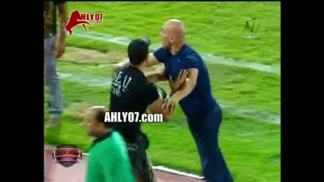 شاهد الفيديو والمشهد كاملا خنافة وبلطجة حسام حسن والتوأم عقب مباراة غزل المحلة حتى النهاية