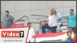 شاهد الصدمة تظهر علي مدير نادي الزمالك بعد إحراز أجاي هدف الأهلى الثانى