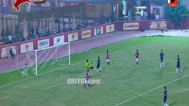 شاهد الهدف الثاني لباكاماني لاعب الأهلي الجديد والسادس للأحمر من كعب عالمي لمتعب في شباك الجونة وديا 11 سبتمبر 2017