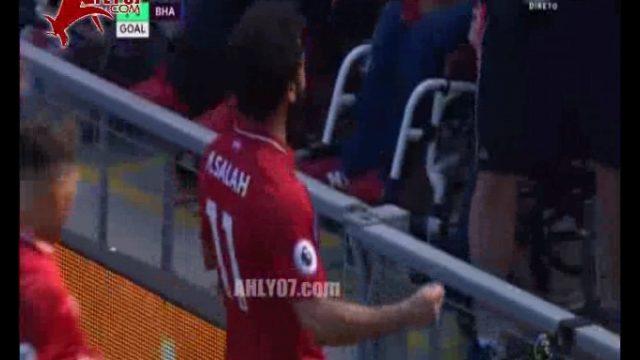 شاهد الهدف التاريخي 32 لمحمد صلاح ليصبح أكثر لاعب تسجيلا في تاريخ البريمير ليج متفوقا على رونالدو ليفربول 1 برايتون 0