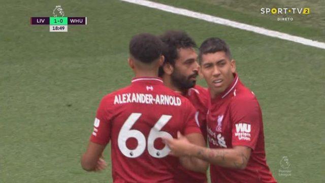 عاجل شاهد محمد صلاح يفتتح أول أهدافه في الدوري الانجليزي مع ليفربول والتقدم ضد ويستهام يونايتد في أول جولة موسم 2018 2019